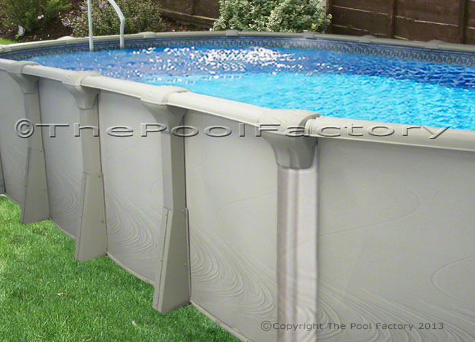 18x33x54 Oval Premium Above Ground Swimming Pool Package Huge Resin Ledge Ebay