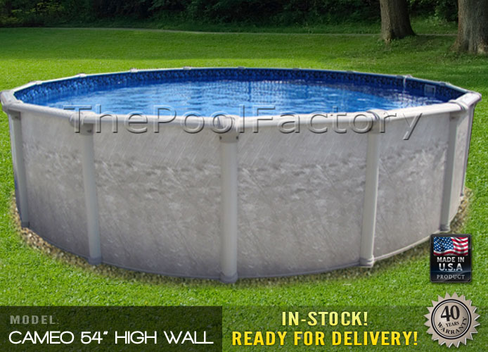 27 39 Round 54 High Above Ground Swimming Pool Package 40 Year Warranty Ebay