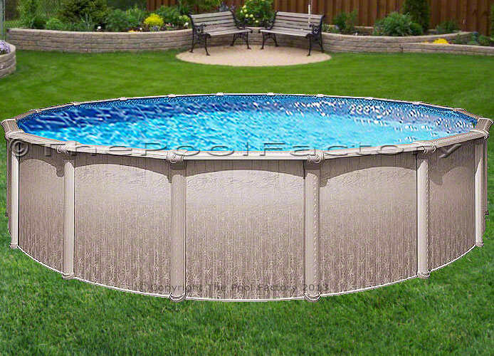 24x48 Round Above Ground Swimming Pool Package 40 Year Warranty Ebay