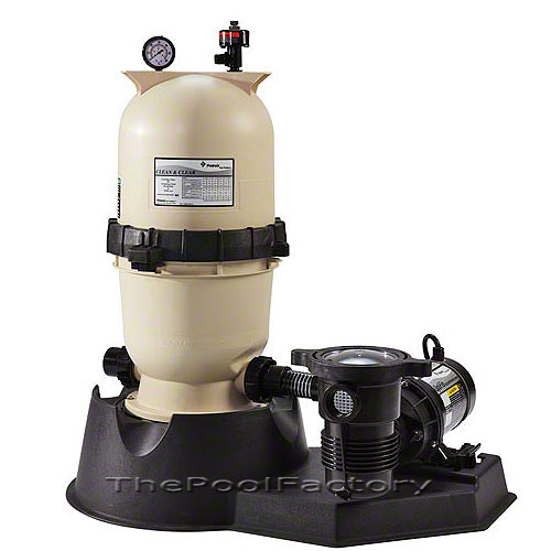 Pentair Cc75 Above Ground Swimming Pool Cartridge Filter System With 1hp Pump Ebay