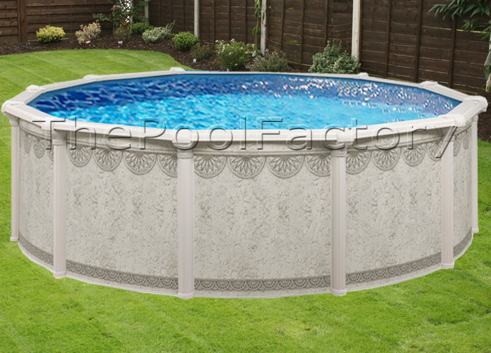 24x52 Quot Round Premium Above Ground Swimming Pool Package