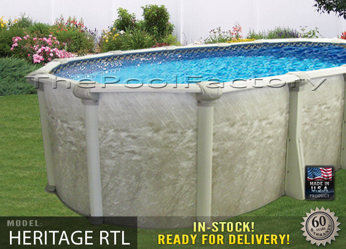 15x24x52 Oval Above Ground Swimming Pool Package Resin Ledge Sleek Oval Design Ebay