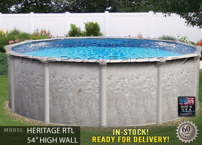 30x54 round above ground swimming pool deluxe accessory - Best above ground swimming pool brands ...