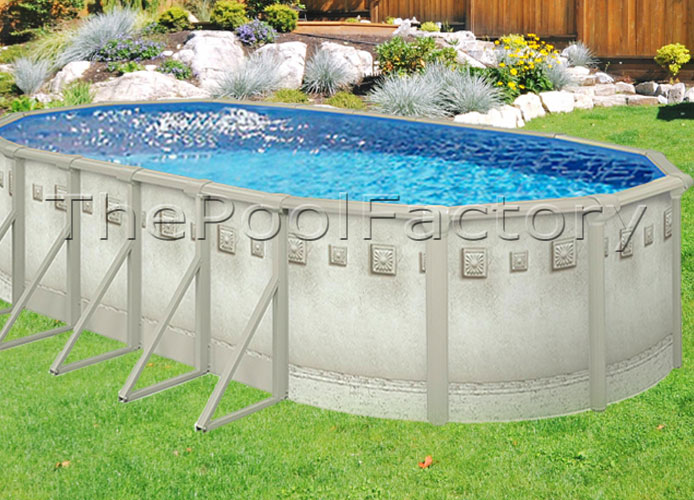 12x24x52 oval above ground swimming pool kit 7 wide - Above ground oval swimming pools for sale ...