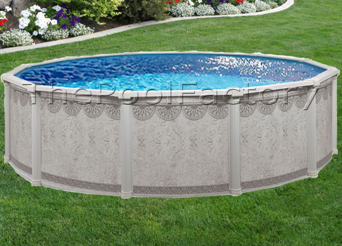 27 39 Round Above Ground Swimming Pool Package 52 High Ebay