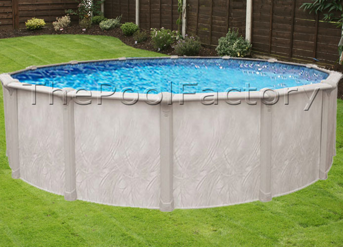 24x52 Quot Round Above Ground Swimming Pool Package 7 Quot Wide